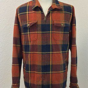 Mens O'NEILL Jacket Shirt Lumber Rust Blue lined